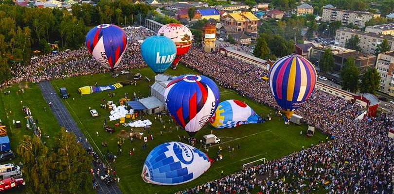 Небесная ярмарка — фестиваль воздухоплавания в Кунгуре фото